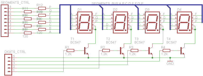 4 Digits 7 Segments Led Display Multiplexing With Arduino