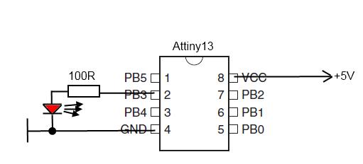 Start with IAR Embedded Workbench for Atmel AVR: Attiny13 LED blink